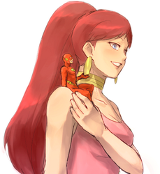 Flash and Giganta by cchome