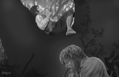 An Ordinary Day In Shire Sketch by cagdasdemiralp