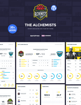 Alchemists Wordpress Sports Team and News Theme by odindesign