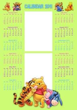 Pooh 'n Friends Photo Calendar by Anavrin2010