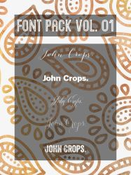 FONT PACK VOL. 01 by JohnCrops