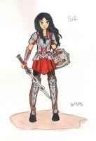 Thor - Sif by Starshinesoldier