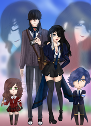 (ASW- GB AU) WOSE BUT AS ANIME HIGHSCHOOLERS by GhostiTrash