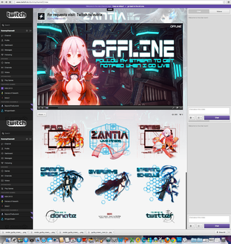 Twitch Channel Layout for Zantia by ciael