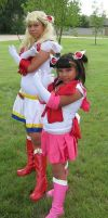 Sailor Moon and Mini Moon by Emagyne