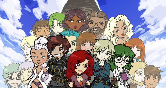 Infinity Tower Cast by Rainbow-Grenade