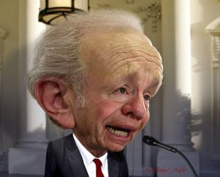 Joe Lieberman Caricature Study 2017 by RodneyPike
