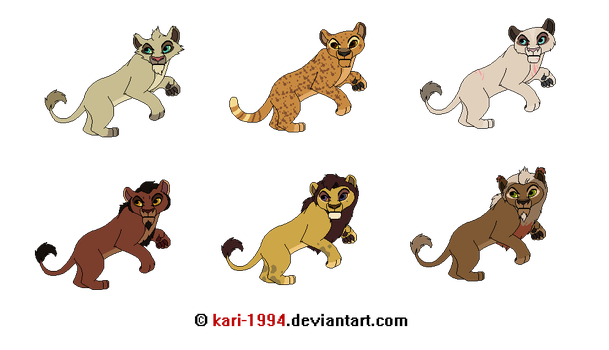 Lion Adopts -- Closed by Witch-Doctais46