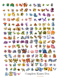 Complete Kanto pokedex by xvinchox12