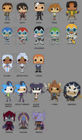 Voltron: Legendary Defender Pops Vinyls by Zephyros-Phoenix