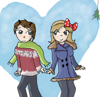 Rudolph x Clarice (Humanized) by EnduoKewt666