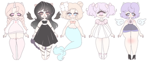 (OPEN) Mythical Creatures Adoptables by qqqal