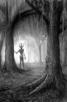 Demon of the Wood I by quickmind