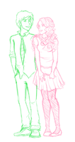 Ron and Hermione sketch by Markiehh