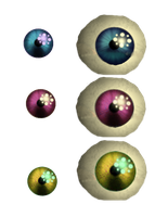 Photoshop resources pack 5) Old Animatronic's eyes by De-activating