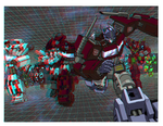 Transformers in 3D Anaglyph (corrected version) by xmancyclops