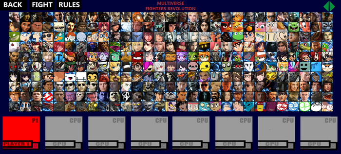Multiverse Fighters Revolution Roster (Page 7) by SuperMaster10