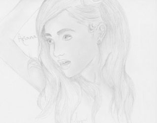 Ariana Grande Portrait by IThoughtIWasCool