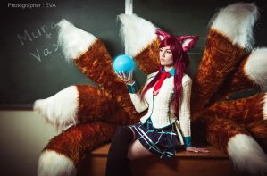 Academy Ahri (League of Legends) by Luna by Lunaritie
