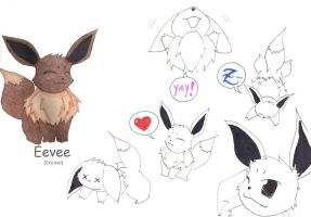 The Eevee on me :D by Minty-MANZANA
