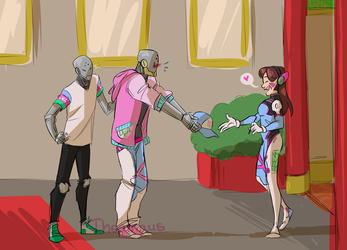 Omnic Fans meet their idol_1 by Thea0605