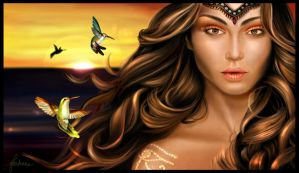 Isis: The Goddess of the Sun by dewmanna