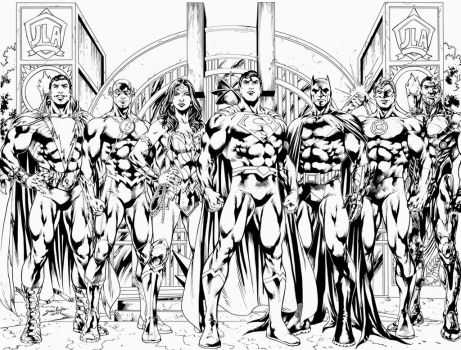 Justice League - by Jose Luis by Pendecon