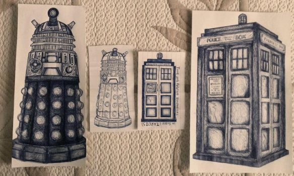 TARDIS and the Daleks by HerrKD