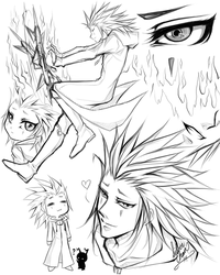 Some Quick Axel Drawings.... by LightSilverstar