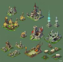 Buildings for game. by Jonik9i