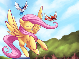 Flying and singing by BritishStarr