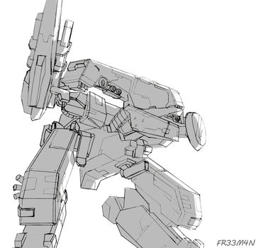 Metal Gear REX (Sketch) by 73H-FR33M4N
