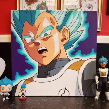 Ssj Blue Vegeta Painting by Hamdoggz
