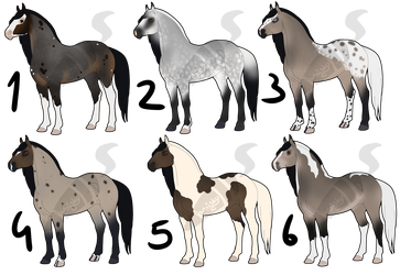 Horse adoptables [CLOSED] by WhiskyAndCigars