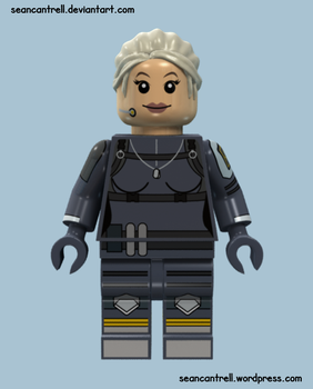 Lego Cassie Cage - Mortal Kombat X by seancantrell
