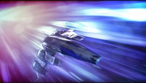 Mass Effect 3 Normandy FTL Dreamscene by droot1986