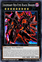 Legendary Red-Eyes Black Dragon by AlanMac95