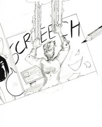 Inktober 9 - Screeched by Tiger-Lilyy