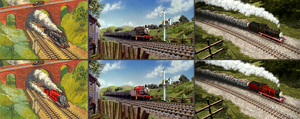 James - Black and Red livery comparison by The-ARC-Minister