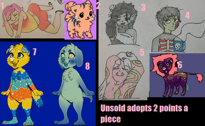 unsold adopts 2 points a piece need to sell by laneypumpkins