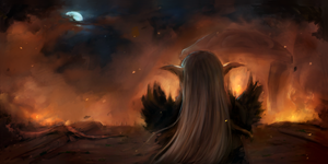The Burning of Teldrassil by Ulfenheim