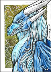 ACEO Samantha-dragon by LadyFromEast