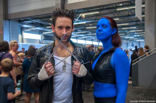 Wolverine and Mystique at FACTS 2014 by KillingRaptor