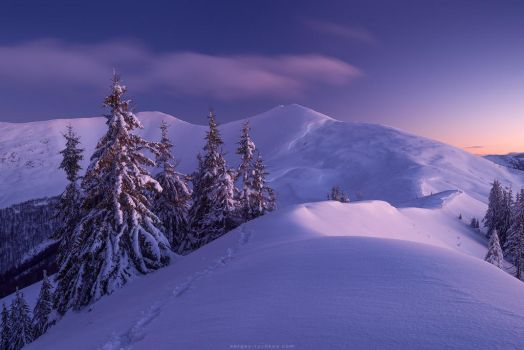 Twilight on Barvinok Mountain by Sergey-Ryzhkov
