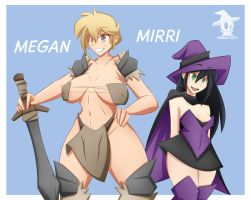 Megan And Mirri (Clothed) by Obhan