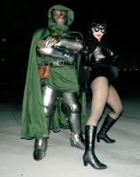 Doctor Doom and 60's Black Widow by Hattori-Mikkuro