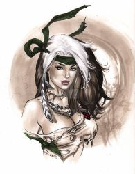 Savageland Rogue sultry Copic bust  eBas by ebas
