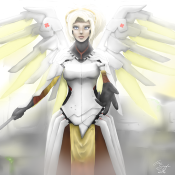 Mercy [commission] [fanart - Overwatch : Blizzard] by locomore