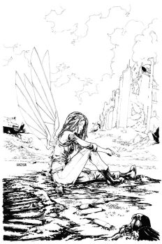 No World #4 Incentive Cover Inks by Arciah