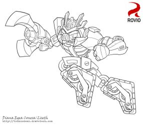 Angry birds Transformers Megatron by Liseth